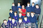 Life Education Centre Kerry paid a visit to Scoil Mhuire BNS Cahersiveen on Monday with Harold the Giraffe & Seamu?s giving the boys advice on healthy options and the effects of bullying in school pictured here are 1st & 2nd classes front l-r; John Anthony McCarthy, Liam Scanlon, Niall Casey, Fionn O'Connell, Collin O'Sullivan, middle l-r; Tadhg O'Connor, Rokas Balzarius, Domantas Pudzemis, Sebastian Stroie, Dylan Murphy, back l-r; Dean O'Sullivan, Jamie Cooke, Harold the Giraffe, Seamu?s Whitty, Austin Murphy, Daniel O'Connell & Garry Sweeney.