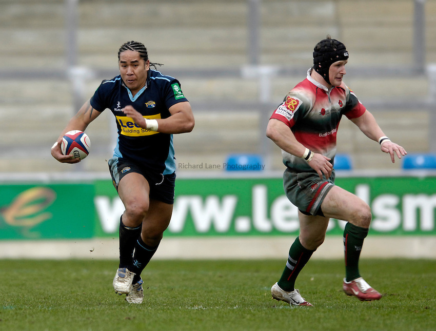 Photo: Jed Wee/Sportsbeat Images..Leeds Tykes v Waterloo. National League 1. 11/03/2007...Leeds' Andy Tuilagi.