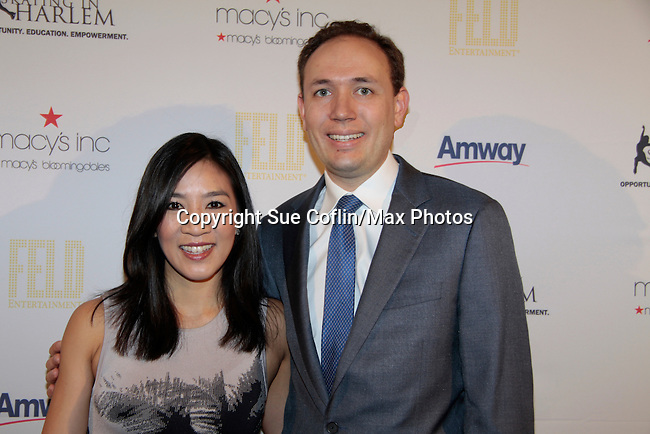 Michelle Kwan & husband Clay Pell at 10th Annual Gala celebrating Figure Skating in Harlem's 18th year of operations at The Stars 2015 Benefit Gala on April 13, 2015 in New York City, New York honoring Olympic Champion Evan Lysacek, Gloria Steinem and Nicole, Alana and Juliette Feld with Mary Wilson as Mistress of Ceremony. (Photos by Sue Coflin/Max Photos)