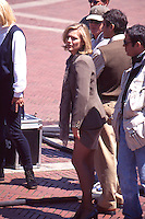 Michelle Pfeiffer on movie set filming<br />