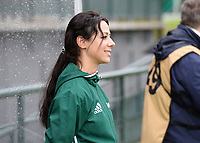 20170914 - TUBIZE ,  BELGIUM : Belgian referee Tina Titeca pictured during the friendly female soccer game between the Belgian Red Flames and European Champion The Netherlands , a friendly game in the preparation for the World Championship qualification round for France 2019, Thurssday 14 th September 2017 at Euro 2000 Center in Tubize , Belgium. PHOTO SPORTPIX.BE | DAVID CATRY