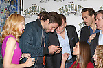 (LtoR) (LtoR) Patricia Clarkson, Bradley Cooper, Peter Bradbury, Emma Thorne,  Alessandro Nivola, Anthony Heald and Amanda Lea Mason attends the 'The Elephant Man' Broadway Cast photo call at Sardi's on October 21, 2014 in New York City.