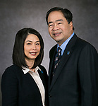 Dr. Gabriel Esteban and his wife Josephine. Mr. Esteban was named DePaul University's 12th president by the Board of Trustees. (DePaul University/Jamie Moncrief)