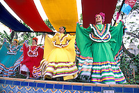 girl dancers at Cinco de Mayo celebration, .Old Town State Historic Park, San Diego, California