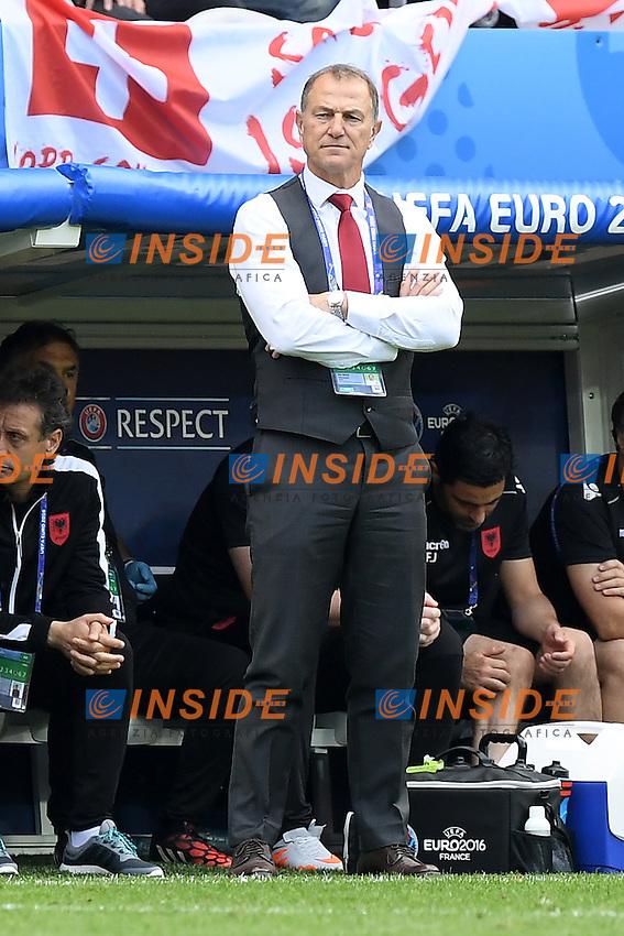 \Lens 11-06-2016 Stade Bollaert-Delelis Football  - Euro 2016 / Albania - Switzerland / foto Matteo Gribaudi/Image Sport/Insidefoto<br /> nella foto: Gianni De Biasi