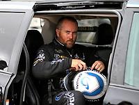 Apr 21, 2018; Baytown, TX, USA; NHRA funny car driver Shawn Langdon during qualifying for the Springnationals at Royal Purple Raceway. Mandatory Credit: Mark J. Rebilas-USA TODAY Sports