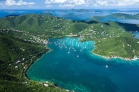 Aerial view of Coral Bay<br />