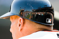 13 April 2008: Close view of an helmet during the San Francisco Giants 7-4 victory over the St. Louis Cardinals at the AT&T Park in San Francisco, CA.