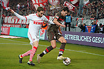 08.02.2019, RheinEnergieStadion, Koeln, GER, 2. FBL, 1.FC Koeln vs. FC St. Pauli,<br />  <br /> DFL regulations prohibit any use of photographs as image sequences and/or quasi-video<br /> <br /> im Bild / picture shows: <br /> Justin Hoogma (St Pauli #22), im Zweikampf gegen  Benno Schmitz (FC Koeln #2), <br /> <br /> Foto © nordphoto / Meuter