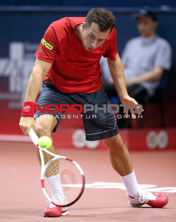 07.02.2014., Zagreb, Croatia - 9. ATP World Tour, PBZ Zagreb Indoors, 3. round, Philipp Kohlschreiber (GER) - Daniel Evans (GBR). <br /> <br /> Foto &copy;  nph / PIXSELL / Igor Kralj