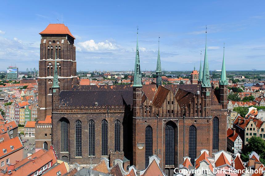 Marienkirche (Kosciol Mariacki) in Danzig (Gdansk), Woiwodschaft Pommern (Wojew&oacute;dztwo pomorskie), Polen, Europa<br /> St.Mary  in Gdansk, Poland, Europe