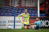 Goalkeeper Scott Brown of Wycombe Wanderers  as his team concede the first goal during the pre season friendly match between Aldershot Town and Wycombe Wanderers at the EBB Stadium, Aldershot, England on 22 July 2017. Photo by Andy Rowland.