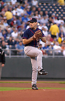 Minnesota Twins LHP Kenny Rogers starts against the Royals at Kauffman Stadium in Kansas City, Missouri on April 22, 2003. The Royals won 4-3.
