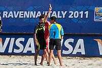 RAVENNA, ITALIA, 10 DE SETEMBRO 2011 - MUNDIAL BEACH SOCCER / EL SALVADOR X RUSSIA José Portillo goleiro do El Salvador, durante a partida contra o Russia, válida pela semi-final do Mundial de Futebol de Areiano Estádio Del Mare, em Ravenna, na Itália, neste sábado (10).FOTO: VANESSA CARVALHO - NEWS FREE