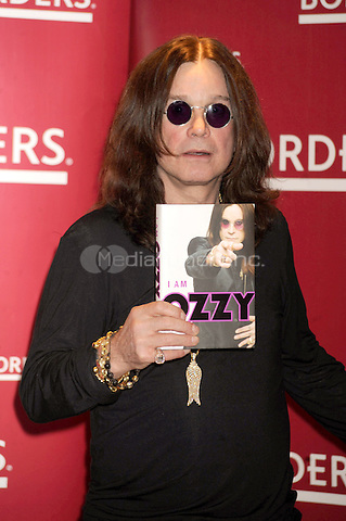 Ozzy Osbourne promotes 'I Am Ozzy' at Borders Books & Music, Columbus Circle  in New York City. January 26, 2010. Credit: Dennis Van Tine/MediaPunch