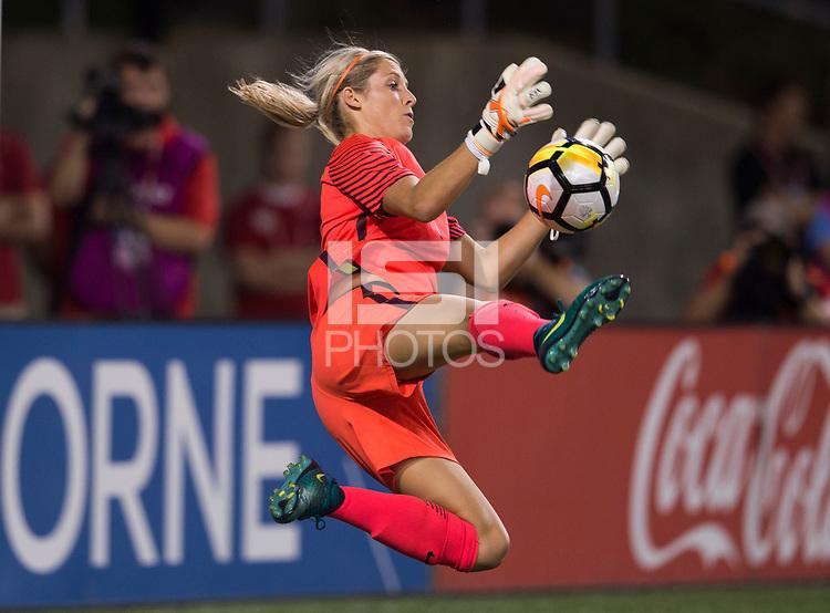 Cincinnati, OH - September 19, 2017: The USWNT defeated New Zealand 5-0 during an international friendly at Nippert Stadium.
