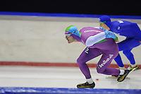 SCHAATSEN: HEERENVEEN: 05-10-2013, IJsstadion Thialf, Trainingwedstrijd, 1000m, Hein Otterspeer (1.11,35), ©foto Martin de Jong