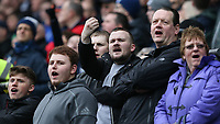 Preston North End fans taunt the Blackburn Rovers fans<br /> <br /> Photographer Stephen White/CameraSport<br /> <br /> The EFL Sky Bet Championship - Blackburn Rovers v Preston North End - Saturday 18th March 2017 - Ewood Park - Blackburn<br /> <br /> World Copyright &copy; 2017 CameraSport. All rights reserved. 43 Linden Ave. Countesthorpe. Leicester. England. LE8 5PG - Tel: +44 (0) 116 277 4147 - admin@camerasport.com - www.camerasport.com