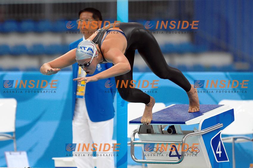 La partenza di Federica Pellegrini nei 400m stile libero<br /> National Aquatics Center<br /> Pechino - Beijing 11/8/2008 Olimpiadi 2008 Olympic Games<br /> Foto Andrea Staccioli Insidefoto