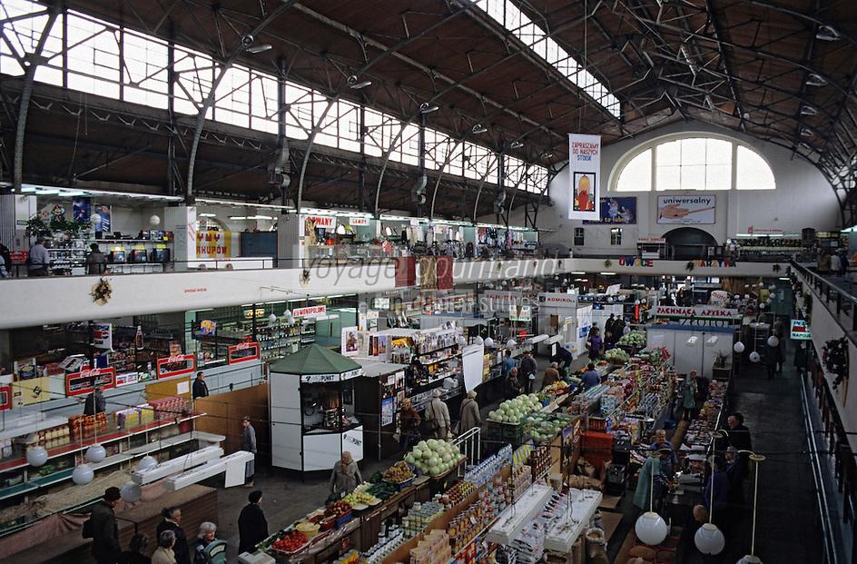 Europe/Pologne/Varsovie: Le marché de la halle Mirowska