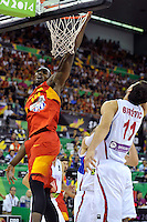 Spain's  IBAKA, Serge during 2014 FIBA Basketball World Cup Group Phase-Group A, match Serbia vs Spain. Palacio  Deportes of Granada. September 4,2014. (ALTERPHOTOS/Raul Perez)