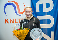 Hilversum, Netherlands, December 3, 2017, Winter Youth Circuit Masters, 12,14,and 16, years, prizegiving 16 years<br /> ,2 nd place girls Melissa Boyden <br /> Photo: Tennisimages/Henk Koster
