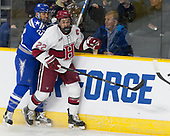 A.J. Reid (AFA - 24), Devin Tringale (Harvard - 22) - The Harvard University Crimson defeated the Air Force Academy Falcons 3-2 in the NCAA East Regional final on Saturday, March 25, 2017, at the Dunkin' Donuts Center in Providence, Rhode Island.