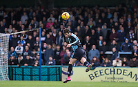 Joe Jacobson of Wycombe Wanderers heads clear during the Sky Bet League 2 match between Wycombe Wanderers and Leyton Orient at Adams Park, High Wycombe, England on 23 January 2016. Photo by Andy Rowland / PRiME Media Images.