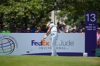Jason Day (AUS) hits his tee shot on 13 during round 2 of the WGC FedEx St. Jude Invitational, TPC Southwind, Memphis, Tennessee, USA. 7/26/2019.<br /> Picture Ken Murray / Golffile.ie<br /> <br /> All photo usage must carry mandatory copyright credit (© Golffile | Ken Murray)
