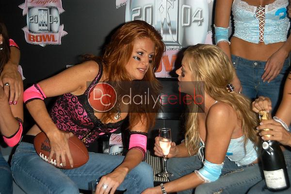 Angie Everhart and Nikki Ziering
