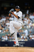 New York Yankees pitcher Luis Ayala #38 during a game against the Tampa Bay Rays at Yankee Stadium on September 21, 2011 in Bronx, NY.  Yankees defeated Rays 4-2.  Tomasso DeRosa/Four Seam Images