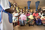 A class for new mothers in the Presbyterian Church-sponsored Ekwendeni Hospital in northern Malawi.