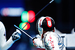 Toshiya Saito (JPN), <br /> AUGUST 21, 2018 - Fencing : <br /> Men's Individual Foil <br /> at Jakarta Convention Center Cendrawasih <br /> during the 2018 Jakarta Palembang Asian Games <br /> in Jakarta, Indonesia. <br /> (Photo by Naoki Morita/AFLO SPORT)