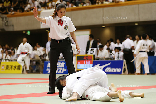 Umpire,<br /> September 13, 2014 - Judo : <br /> All Japan Juior Judo Championships <br /> at Saitama Kenritsu Budokan, Saitama, Japan. <br /> (Photo by Shingo Ito/AFLO SPORT) [1195]