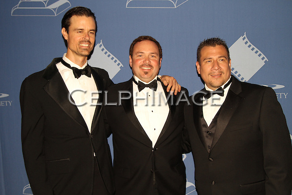 KENNY STRAIN, VON VARGA, JUAN CISNEROS. Arrivals to the 46th Annual Cinema Audio Society Awards at the Millennium Biltmore Hotel in downtown Los Angeles. Los Angeles, CA, USA. February 27, 2010.