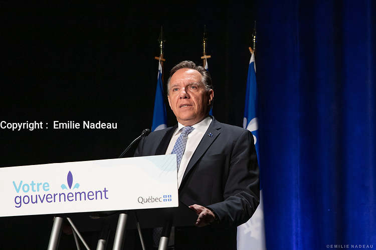 Le Premier Ministre en tournee a St-Jerome, le 7 Juillet 2020.<br /> <br /> PHOTO : Emilie Nadeau, Cabinet du Premier Ministre