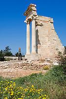 CYPRUS, near Kourion: archaelogical excavation - Temple of Apollo Hylates | ZYPERN, bei Kourion: archaelogische Ausgrabungsstaette - Tempel des Apollo Ylatis (Gott der Waelder)