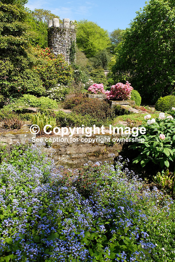National Trust, Rowallane, Saintfield, N Ireland, UK, walled garden, May, 2015, 201505231083.<br />