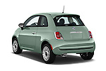 Car pictures of rear three quarter view of a 2015 Fiat 500 POP 3 Door Hatchback Angular Rear
