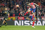 Atletico de Madrid's Diego Godin  and Juventus' Paulo Dybala  during a UEFA Champions League match. Round of 16.  February, 20,2019. (ALTERPHOTOS/Alconada)