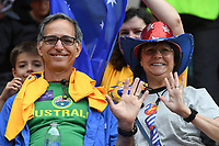20190609 - VALENCIENNES , FRANCE : illustration picture shows fans  during the female soccer game between Australia – the Matildas - and Italy – Squadra Azzurrine - , the first game for both teams in group C during the FIFA Women's  World Championship in France 2019, Sunday 9 th June 2019 at the Stade du Hainaut Stadium in Valenciennes , France .  PHOTO SPORTPIX.BE | DIRK VUYLSTEKE