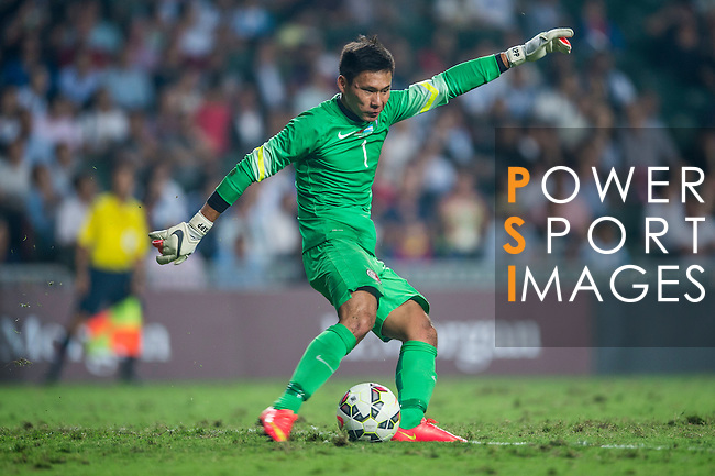 Hung Fai Yapp of Hong Kong in action during the HKFA Centennial Celebration Match between Hong Kong vs Argentina at the Hong Kong Stadium on 14th October 2014 in Hong Kong, China. Photo by Aitor Alcalde / Power Sport Images