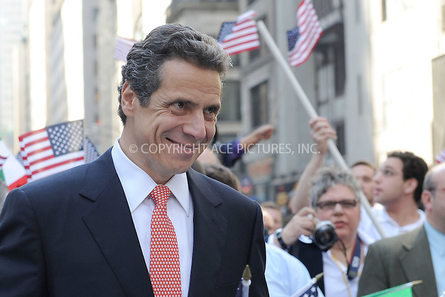 WWW.ACEPIXS.COM . . . . . .October 11, 2010, New York City....Andrew Cuomo during the 66h Annual Columbus Day Parade on October 11, 2010 in New York City....Please byline: KRISTIN CALLAHAN - ACEPIXS.COM.. . . . . . ..Ace Pictures, Inc: ..tel: (212) 243 8787 or (646) 769 0430..e-mail: info@acepixs.com..web: http://www.acepixs.com .
