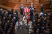 Recessional ending the memorial service for the late United States Senator John S. McCain, III (Republican of Arizona) in the Washington National Cathedral in Washington, DC on Saturday, September 1, 2018.<br /> Credit: Ron Sachs / CNP<br /> <br /> (RESTRICTION: NO New York or New Jersey Newspapers or newspapers within a 75 mile radius of New York City)