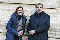 Ilaria Cucchi e Claudio Giardullo