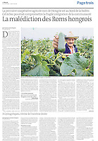 LE MONDE (main French daily)..2011/08/01.Roma in Hungary.Photo: Szilard Voros