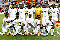 Ghana's players during their FIFA U-20 World Cup Turkey 2013 Group Stage Group A soccer match Ghana betwen USA at the Kadir Has stadium in Kayseri on June 27, 2013. Photo by Aykut AKICI/TURKPIX