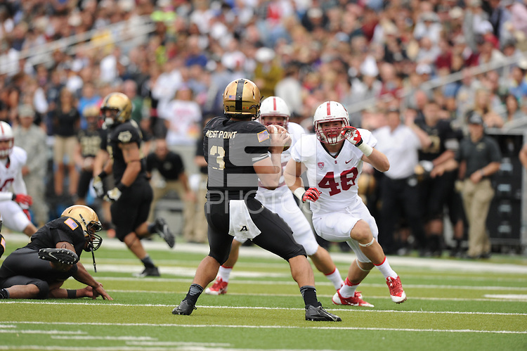 West Point, NY - Saturday, September 14, 2013: The Stanford football team defeated Army, 34-20, at Michie Stadium.
