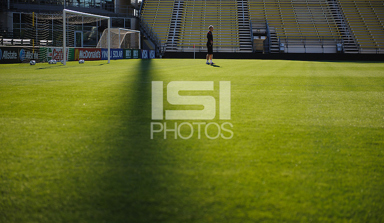 Columbus, Ohio - Monday, September 10, 2012: The USA Men's national team practices before it's World Cup Qualifying match with Jamaica.