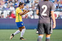 Seattle, WA - Thursday July 27, 2017:   Camila during a 2017 Tournament of Nations match between the women's national teams of the Japan (JAP) and Brazil (BRA) at CenturyLink Field.